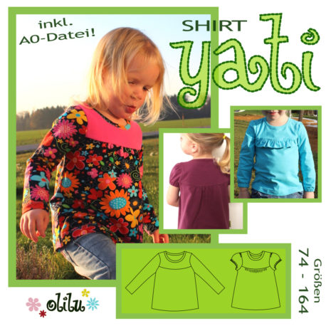 Schnittmuster Shirt Yati von olilu