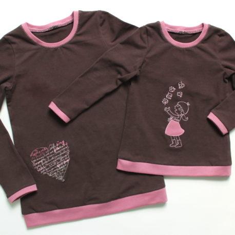 Designbeispiel Schnittmuster Shirt Yati